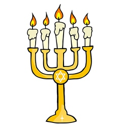 Gold menorah vector