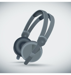 Big grey headphones vector
