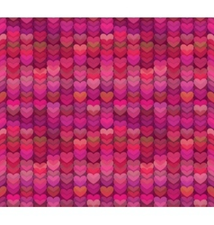 Abstract hearts background in rich shades of pink vector