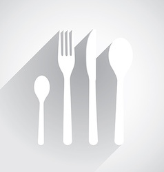 Flat dishes vector