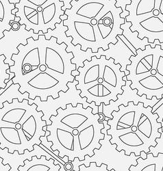 White cogwheel seamless pattern vector