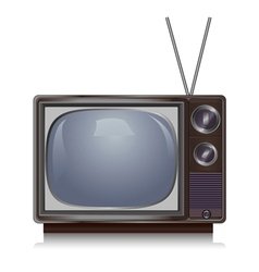 Realistic vintage tv isolated on white background vector