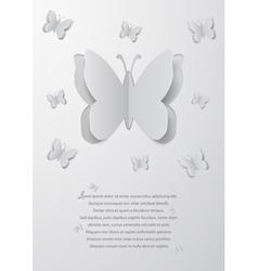 Paper cutout butterflies vector