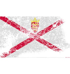Flag of jersey with old texture vector