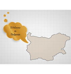 Welcome to bulgaria vector