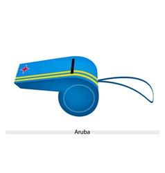 Yellow stripe on blue whistle of aruba vector