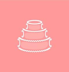 Wedding cake logo vector