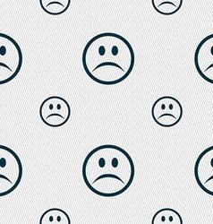 Sad face sadness depression icon sign seamless vector