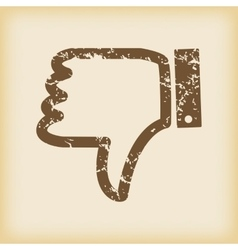 Grungy dislike icon vector