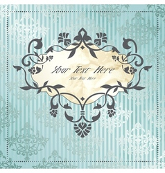 Elegant label in silver and blue vector