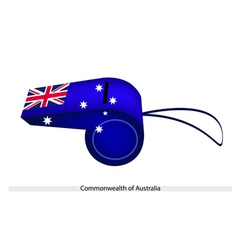 A beautiful blue whistle of australia flag vector