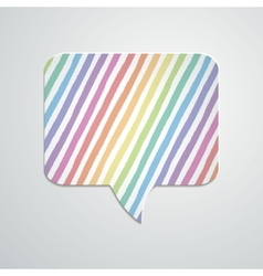 Speech bubble with hand drawn geometric stripes vector