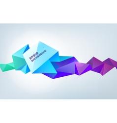 Geometric shape abstract futuristic vector