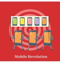 Mobile revolution concept vector