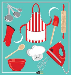 Baking icons and elements vector