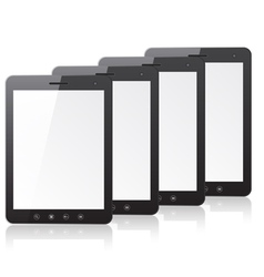 Four tablet pc computer vector