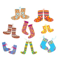 Socks set for christmas vector