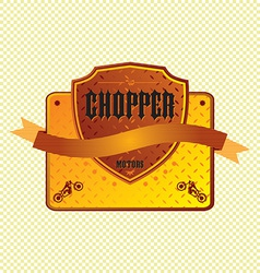 Chopper emblem vector