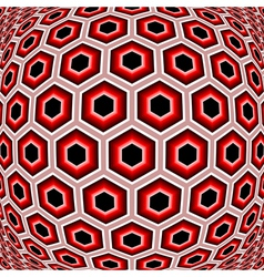 Design distorted hexagon geometric pattern vector