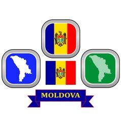 Symbol of moldova vector