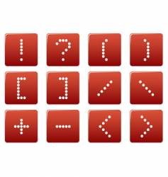 Matrix symbol square icons vector