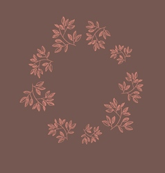 Autumn flowers frame vector