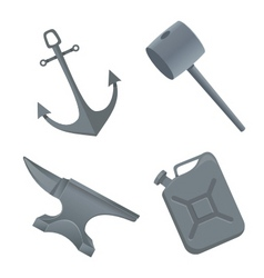 Iron things vector