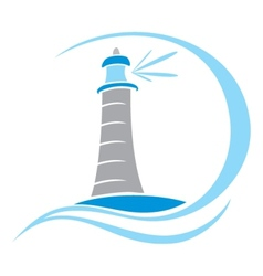 Lighthouse symbol vector