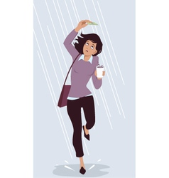 Saving for a rainy day vector
