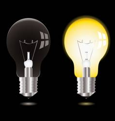 Light bulb on off vector