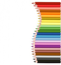 Crayons wave shape vector