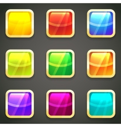 Set of vibrant bright glossy web buttons vector