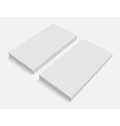 Blank business cards for promotion of ci vector