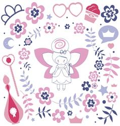 Design with cute fairy vector