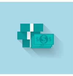 Flat web iconpaper money vector