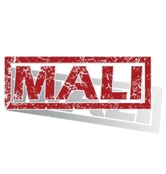 Mali outlined stamp vector