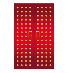 Doors imperial red vector