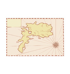 Vintage map of island vector