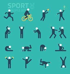 Sports and health people flat icons people play vector
