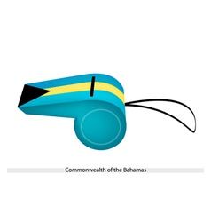 A whistle of commonwealth of the bahamas vector