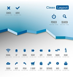 Icons layout vector