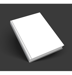 Blank cover of book vector