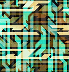 Vintage urban seamless pattern vector