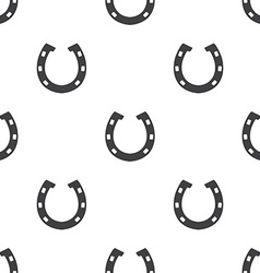Horseshoe seamless pattern vector