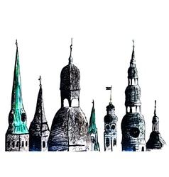 Riga towers vector