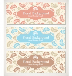 Floral backgrounds and frames vector