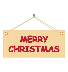 Board with merry christmas congratulation vector