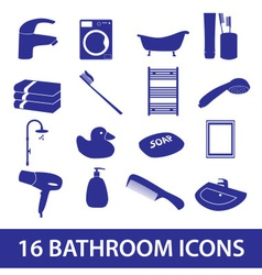 Bathroom icons set eps10 vector