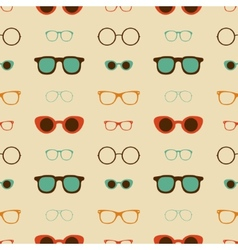 Hipster glasses seamless pattern vector