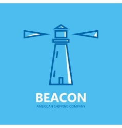 Lighthouse design logo vector